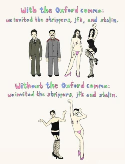 How To Use The Oxford Comma